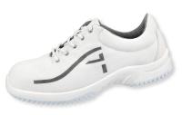 ABEBA Soft-Comfort Schnürschuhe 6729, weiße Arbeitschuhe ohne Stahlkappe