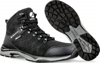 ALBATROS Ischgl CTX mid 677580 schwarz, Wanderschuhe Trekking- Outdoorschuhe mit atmungsaktiver Membrane, Leder