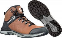 ALBATROS Ischgl CTX mid 677580 braun, Wanderschuhe Trekking- Outdoorschuhe mit atmungsaktiver Membrane, Leder
