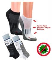 Sneaker Funktions-Socken antibakteriell Arbeitssocken, 3er Pack