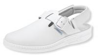 ABEBA Clogs 7208, weiße Berufsschuhe mit Klettverschluß für Berufe in Klinik Pflege Praxis