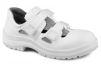 ARTRA Aries weiße Arbeitsschuhe Klett-Sandale MIT Stahlkappe, Gr. 38  --SONDERPREIS--