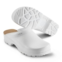 SIKA Arbeitsschuhe, Flex LBS 8105, Komfort-Clogs ohne Stahlkappe, Leder weiß