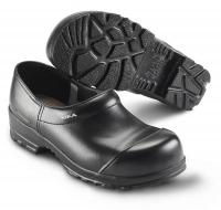 SIKA FLEX 883, Sicherheits-Clogs mit Stahlkappe S3,  breite Form, Leder schwarz