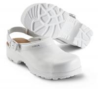 SIKA Arbeitsschuhe, Flex LBS 8985, Komfort-Clogs mit Stahlkappe, Leder weiß