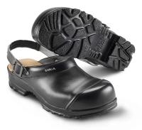 SIKA Arbeitsschuhe, Flex LBS 8985, Komfort-Clogs mit Stahlkappe, Leder schwarz