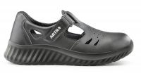 ARTRA ARMEN bequeme Sandale mit Klett für Lager LKW Handwerk, MIT Stahlkappe schwarz, S1