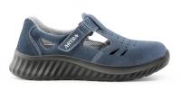 ARTRA ARMEN bequeme Sandale mit Klett für Lager LKW Handwerk, MIT Stahlkappe blau, S1