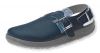 ABEBA rutschfeste Clogs 9150, bewährte Arbeitsschuhe für viele Berufe geeignet, Leder, blau