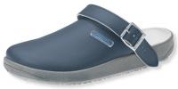 ABEBA Clogs 9250 mit Gummisohle, Arbeitsschuhe Leder, blau