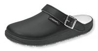 ABEBA Clogs 9252 mit Gummisohle, Arbeitsschuhe Leder, schwarz