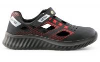 ARTRA luftige Sandale ARSO red 701, Arbeitsschuhe S1, Sicherheitsschuhe für Logistik Handel Lager Werkstatt. ESD