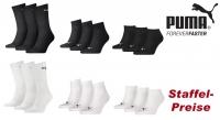 PUMA Tennissocken + Quarter + Sneaker zur freien Auswah, 3er-Pack, Staffelpreise auch bei gemischter Abnahme.