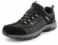 CXS SPORT black/green low, ultraleichte Softshell - Outdoorschuhe Trekking- Wanderschuhe, atmungsaktiv und wasserabweisend